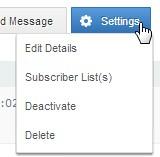 Autoresponder series settings
