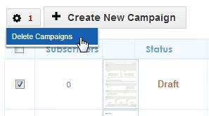 Delete campaigns