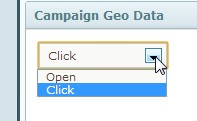 Geodata filtering - opens or clicks