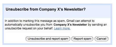 Old Gmail Fast Unsubscribe Feature