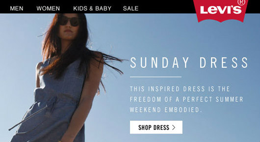 Levi's email marketing campaign