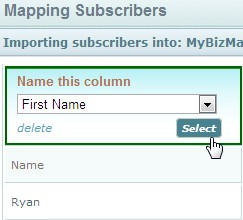 Mapping Subscribers first name