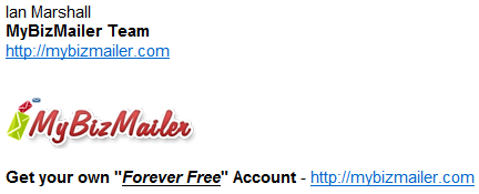 MyBizMailer Silent Sales Machine Signature