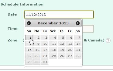 Schedule & Send snapshot