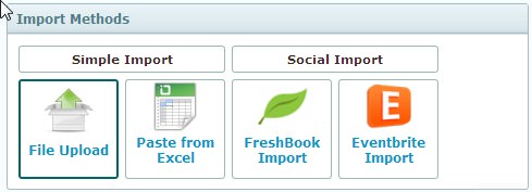 Simple and Social Importing Options