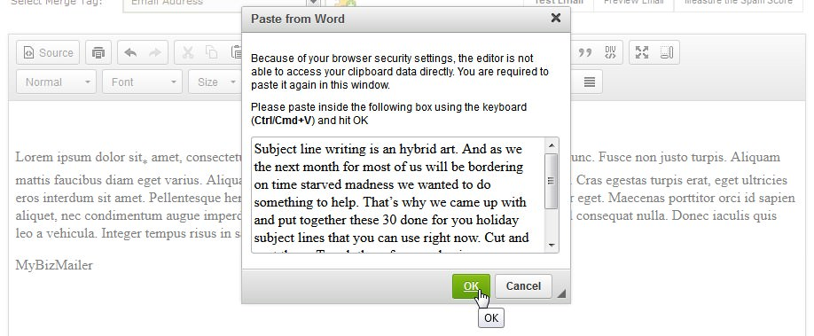 wysiwyg paste from word
