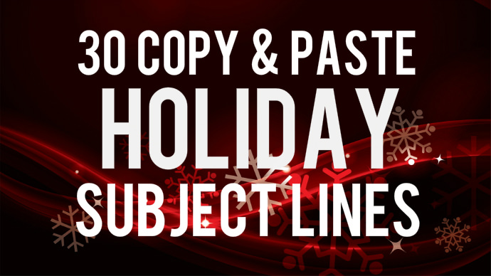 30 copy and paste xmas holiday subject lines